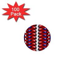 The Patriotic Flag 1  Mini Buttons (100 Pack)  by SugaPlumsEmporium