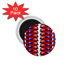 The Patriotic Flag 1 75  Magnets (10 Pack)  by SugaPlumsEmporium
