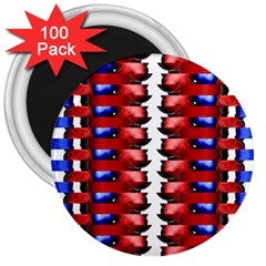 The Patriotic Flag 3  Magnets (100 Pack) by SugaPlumsEmporium