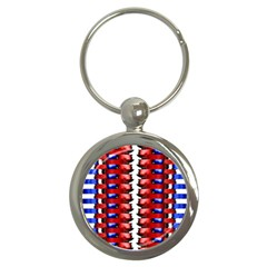 The Patriotic Flag Key Chains (round)  by SugaPlumsEmporium