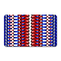 The Patriotic Flag Magnet (rectangular) by SugaPlumsEmporium
