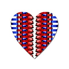 The Patriotic Flag Heart Magnet by SugaPlumsEmporium
