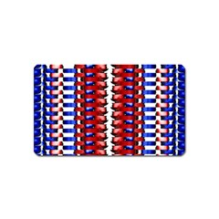 The Patriotic Flag Magnet (name Card) by SugaPlumsEmporium