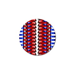 The Patriotic Flag Golf Ball Marker (4 Pack) by SugaPlumsEmporium