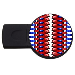 The Patriotic Flag Usb Flash Drive Round (2 Gb)  by SugaPlumsEmporium