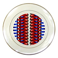 The Patriotic Flag Porcelain Plates by SugaPlumsEmporium