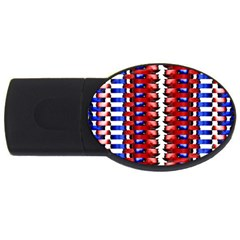 The Patriotic Flag Usb Flash Drive Oval (4 Gb)  by SugaPlumsEmporium