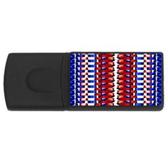 The Patriotic Flag Usb Flash Drive Rectangular (4 Gb)  by SugaPlumsEmporium