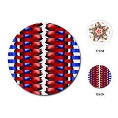The Patriotic Flag Playing Cards (round)  by SugaPlumsEmporium