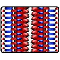 The Patriotic Flag Fleece Blanket (medium)  by SugaPlumsEmporium