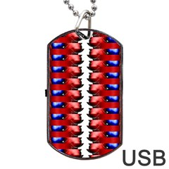 The Patriotic Flag Dog Tag Usb Flash (one Side) by SugaPlumsEmporium