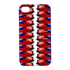 The Patriotic Flag Apple Iphone 4/4s Hardshell Case With Stand by SugaPlumsEmporium