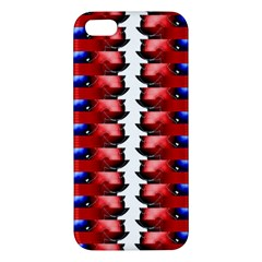 The Patriotic Flag Apple iPhone 5 Premium Hardshell Case by SugaPlumsEmporium