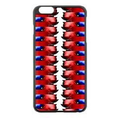 The Patriotic Flag Apple iPhone 6 Plus/6S Plus Black Enamel Case by SugaPlumsEmporium