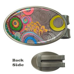 Rainbow Passion Money Clips (oval)  by SugaPlumsEmporium