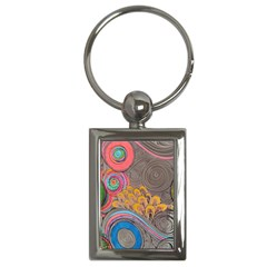 Rainbow Passion Key Chains (rectangle)  by SugaPlumsEmporium
