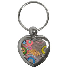 Rainbow Passion Key Chains (heart)  by SugaPlumsEmporium