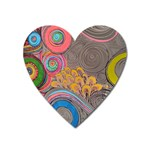 Rainbow Passion Heart Magnet Front
