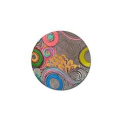 Rainbow Passion Golf Ball Marker (4 Pack) by SugaPlumsEmporium
