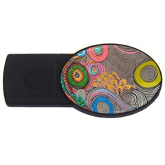 Rainbow Passion Usb Flash Drive Oval (2 Gb)  by SugaPlumsEmporium