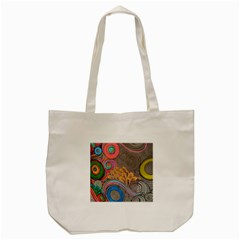 Rainbow Passion Tote Bag (cream) by SugaPlumsEmporium