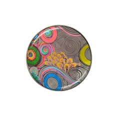 Rainbow Passion Hat Clip Ball Marker by SugaPlumsEmporium