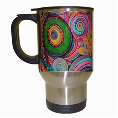 Rainbow Passion Travel Mugs (white) by SugaPlumsEmporium