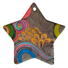 Rainbow Passion Star Ornament (two Sides)  by SugaPlumsEmporium