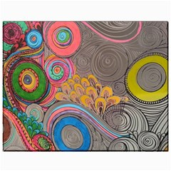 Rainbow Passion Canvas 11  X 14   by SugaPlumsEmporium