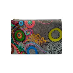 Rainbow Passion Cosmetic Bag (medium)  by SugaPlumsEmporium