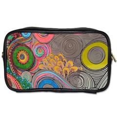 Rainbow Passion Toiletries Bags 2 Side by SugaPlumsEmporium