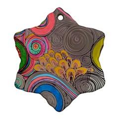 Rainbow Passion Ornament (snowflake)  by SugaPlumsEmporium