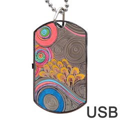 Rainbow Passion Dog Tag Usb Flash (one Side) by SugaPlumsEmporium