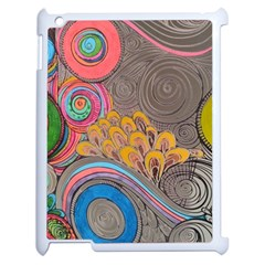 Rainbow Passion Apple Ipad 2 Case (white) by SugaPlumsEmporium