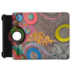 Rainbow Passion Kindle Fire Hd Flip 360 Case by SugaPlumsEmporium