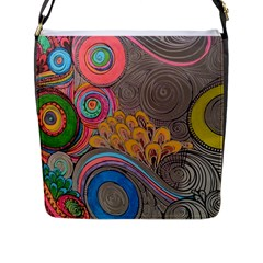 Rainbow Passion Flap Messenger Bag (l)  by SugaPlumsEmporium