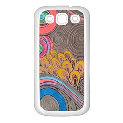 Rainbow Passion Samsung Galaxy S3 Back Case (white) by SugaPlumsEmporium