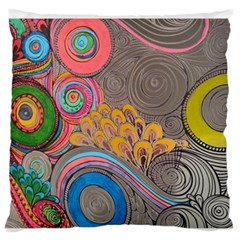 Rainbow Passion Standard Flano Cushion Case (two Sides) by SugaPlumsEmporium
