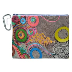 Rainbow Passion Canvas Cosmetic Bag (xxl)  by SugaPlumsEmporium