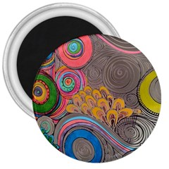 Rainbow Passion 3  Magnets by SugaPlumsEmporium