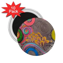 Rainbow Passion 2.25  Magnets (10 pack)  by SugaPlumsEmporium
