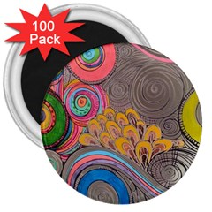 Rainbow Passion 3  Magnets (100 Pack) by SugaPlumsEmporium