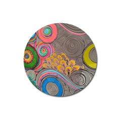Rainbow Passion Magnet 3  (round) by SugaPlumsEmporium