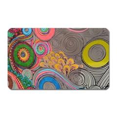 Rainbow Passion Magnet (rectangular) by SugaPlumsEmporium