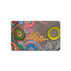 Rainbow Passion Magnet (name Card) by SugaPlumsEmporium