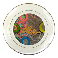 Rainbow Passion Porcelain Plates by SugaPlumsEmporium