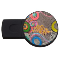 Rainbow Passion Usb Flash Drive Round (4 Gb)  by SugaPlumsEmporium