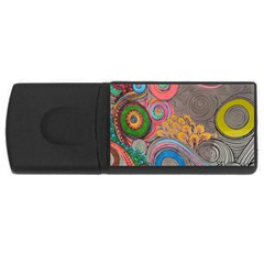 Rainbow Passion Usb Flash Drive Rectangular (4 Gb)  by SugaPlumsEmporium