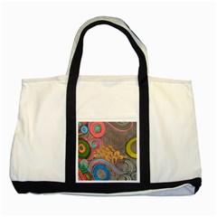 Rainbow Passion Two Tone Tote Bag by SugaPlumsEmporium