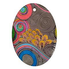 Rainbow Passion Oval Ornament (two Sides) by SugaPlumsEmporium